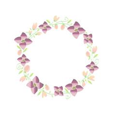 cornice floreale circolare