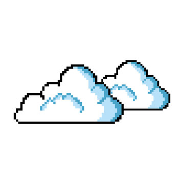 pixelated cloud game icon