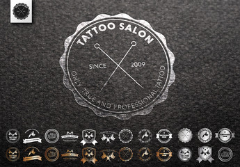 15 Tattoo Shop Logo Layouts
