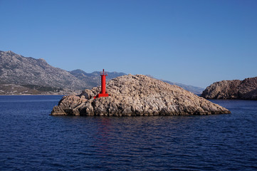 Lighthouse Zigljen, Croatia, Island of Pag