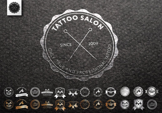 15 Tattoo Shop Logo Layouts
