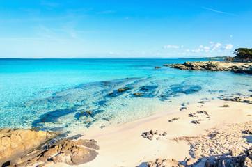 Beautiful sandy beaches of the Mediterranean, La Pelosa, Stintino, Sardinia