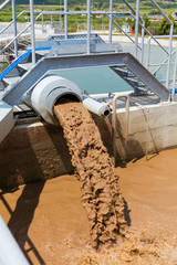 Organic waste water treatment purification plant