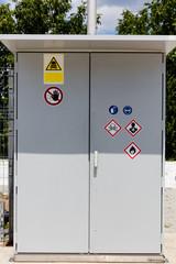 Hazardous materials control panel