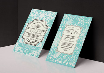 Vintage Wedding Invitation Layout 1