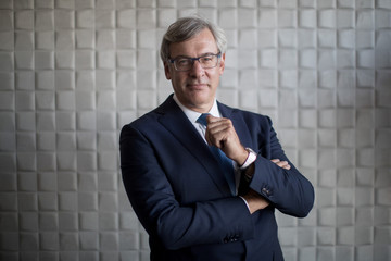 Royal Bank of Canada CEO David McKay poses for a portrait at the Thomson Reuters office