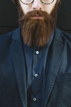 Man with long beard