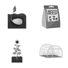Company, ecology, and other web icon in monochrome style. Husks, fines, garden icons in set collection.