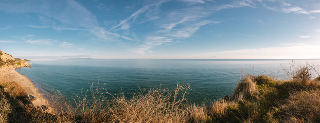 panorama shot of the mediterranean sea