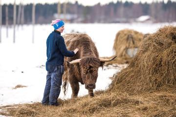female cattle farmer