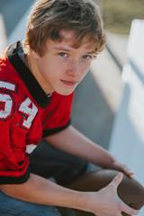 Teen football player