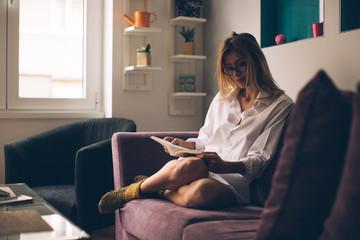 Beautyiful Girl Reading a Book