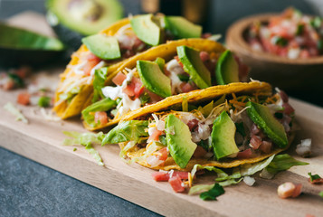 Tacos: Ground Beef Tacos With Salsa And Avocados