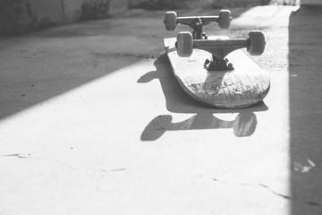 Flipped Skateboard
