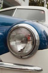 Headlight on a classic car
