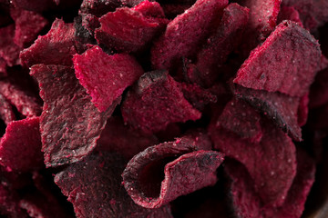 Beetroot Chips in Closeup