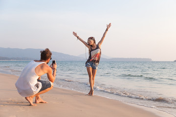Capturing the moment - taking a photo at the beach