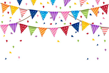 Party happy new year Flags Background Vector