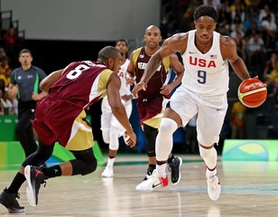Olympics: Basketball-Men's Team-Preliminary Round USA vs VEN