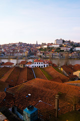 Views of the wine cellars and Oporto