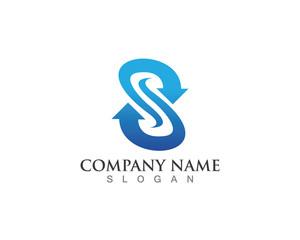 S Letter Arrow logo