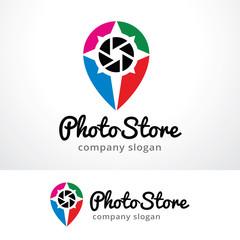 Photo Store Logo Template Design Vector, Emblem, Design Concept, Creative Symbol, Icon