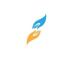 Hand Help Logo Design Template