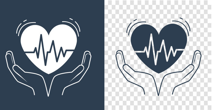 concept of treatment heart silhouette