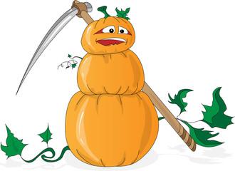 Halloween pumpkin illustration set isolated.