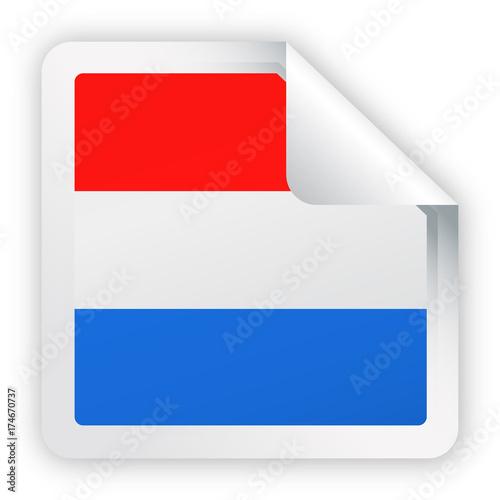 netherlands flag vector square corner paper icon fotolia com の