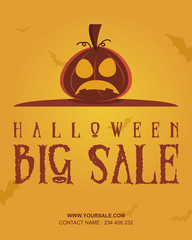 Halloween party poster design collection