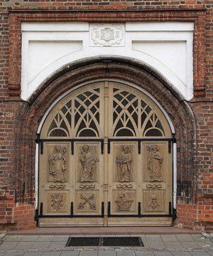 one of door to Basillica in Kaunas