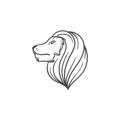 lion head vector draw