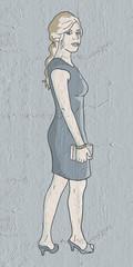 fashion girl draw