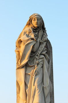 Statue of St. Catherine of Siena in Rome, Italy