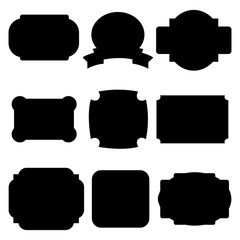 Set of black labels, badges isolated on white background. Vector illustration