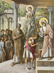 The anointing of king David.
