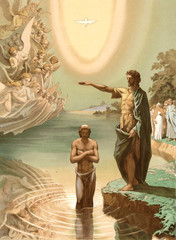 The baptism of Jesus Christ.