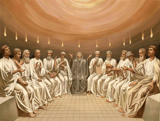 Pentecost. The Descent Of The Holy Spirit.