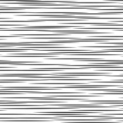 Black and white geometric pattern. Seamless abstract background. Vector stripe, lines. Horizontal speed line pattern.