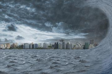 Stadt erwartet nach Seebeben Tsunami