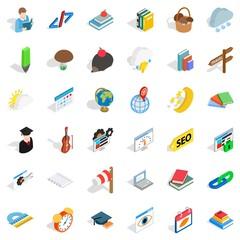 Every day icons set, isometric style