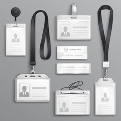 Identification Cards Badges Samples Set