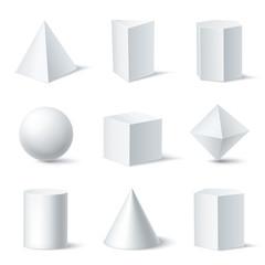3D Shapes White Set