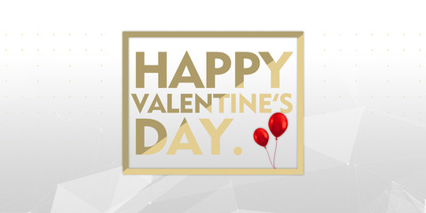 happy valentines day gold logo typography 14 th february