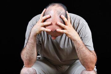 Worried balding man problems