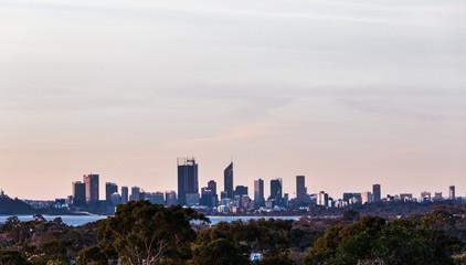 スワン川の夕日 オーストラリア パース