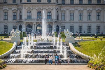 Kaskadenbrunnen, Belvedere, Wien, Austria