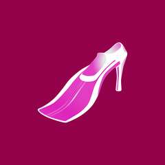 Flippers. Female fins. Abstract flippers. Vector flippers.