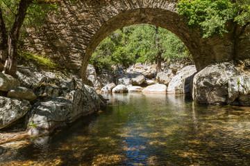 Water under old bridge